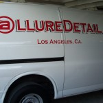 Allure Detail Lettering done in Red and Chrome