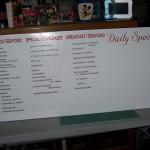 Menu Board with Dry Erase