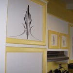 Pinstripped kitchen